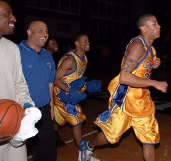 acbb82b36504 Derrick Rose leads Simeon off the floor Friday(2 25 05) after beating  Marshall in game one of the C.P.L. semi-finals. Westinghouse defeated Von  Steuben in ...